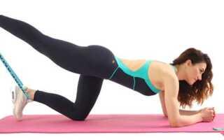 Упражнения с эспандером для ягодиц в домашних условиях: тренировка эластичной лентой для женщин, желающим накачать попу быстро без особых усилий, не посещая спортзал