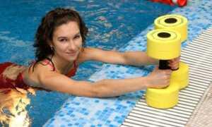 Упражнения в бассейне для похудения в проблемных зонах