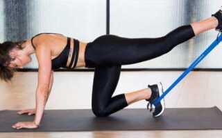 Упражнения с фитнес резинкой