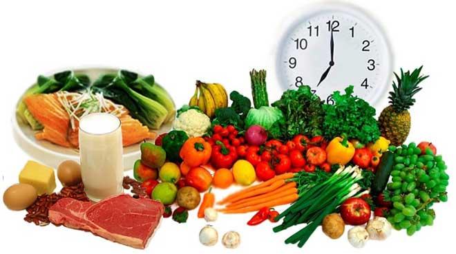 Оптимальным является четырехразовое питание, когда прием пищи происходит с интервалом в 4-5 часов в одно и то же время.