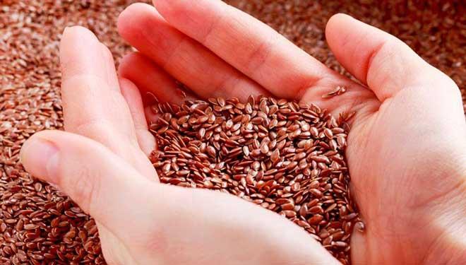 В льняном семени присутствуют жирные кислоты Омега-3 – их здесь больше, чем в рыбьем жире.