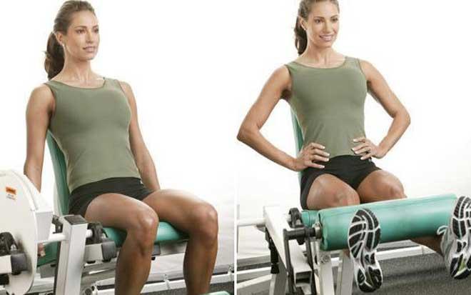 Сгибание ног в тренажере сидя относится к упражнениям начального уровня сложности.